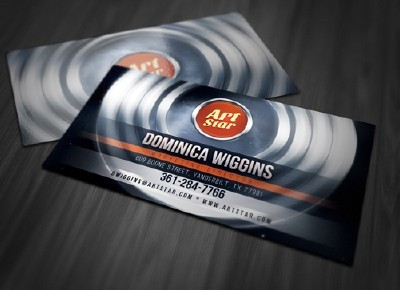 Abstract Circles Business Card