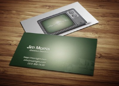 Retro Business Card PSD Template