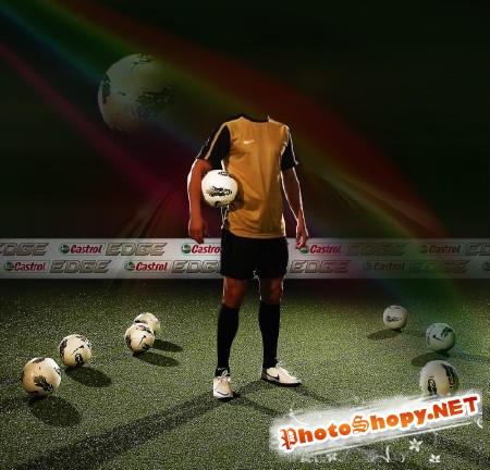 Мужской шаблон-тренировка на футбольном поле
