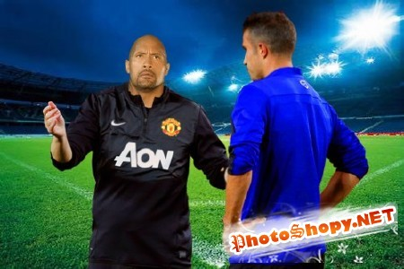 Мужской шаблон-объяснение футбольного судьи