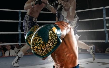 Шаблон для мужчин-мощный и сильный боксер