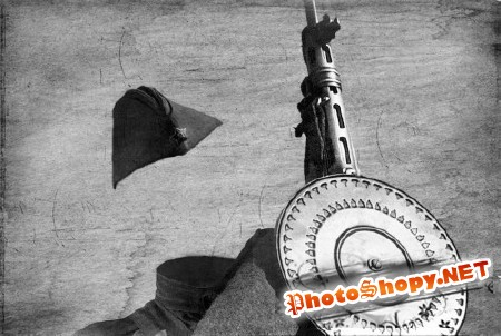 Шаблон для мужчин-советский солдат пулеметчик