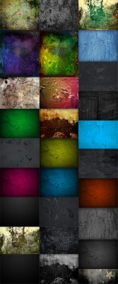 30 Color Grungy and Dark Backgrounds