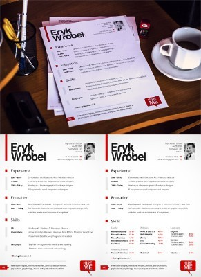 CV Resume PSD Template and Mock up