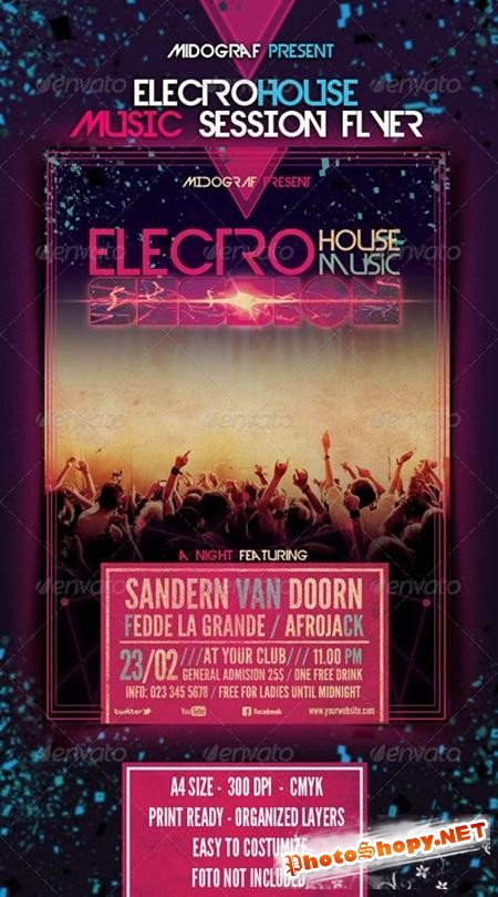 PSD - Electro House Music Session Flyer