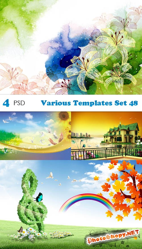 PSD - Various Templates Set 48