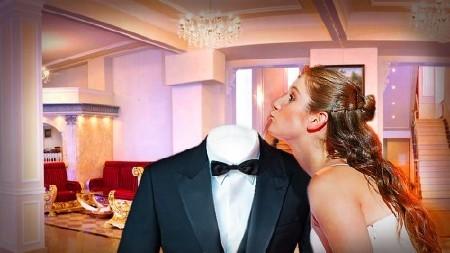 Фотошаблон для мужчин-горячий поцелуй девушки