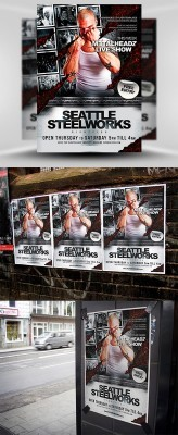 Steelworks Flyer Template PSD