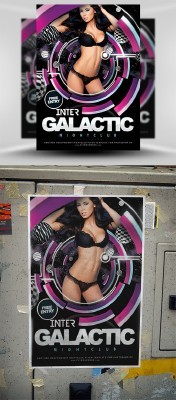 Inter Galactic Flyer Template PSD