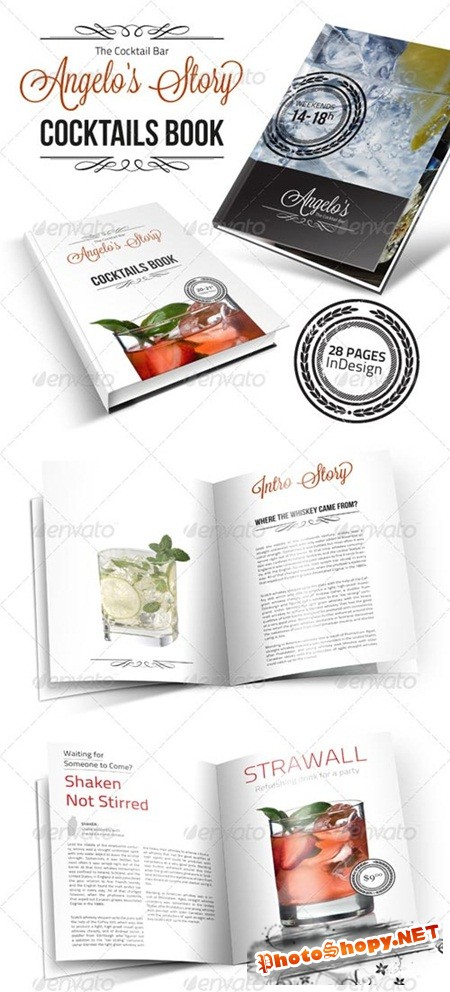 PSD - Cocktail Book Menu