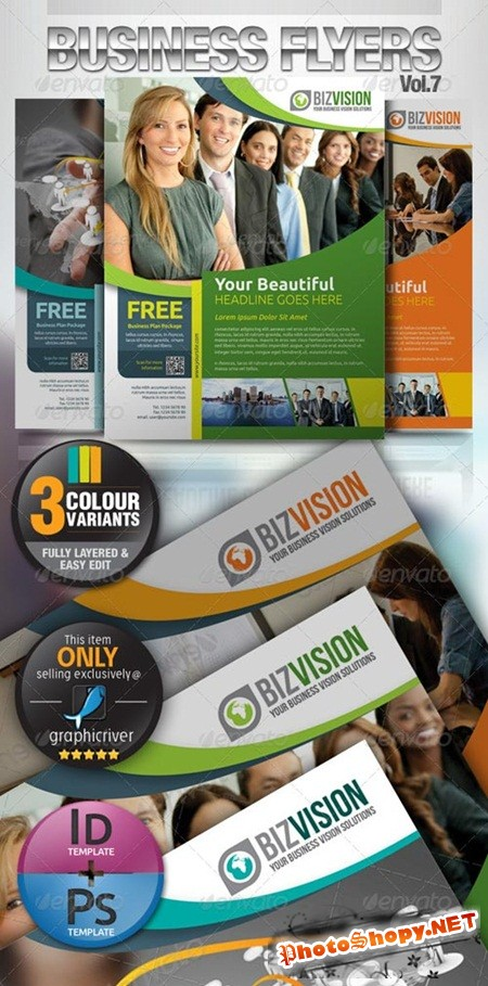 PSD - Simple & Clean Corporate Flyer Vol.7