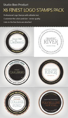 6 Logo Stampts Pack