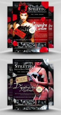 Stiletto Flyer Template PSD