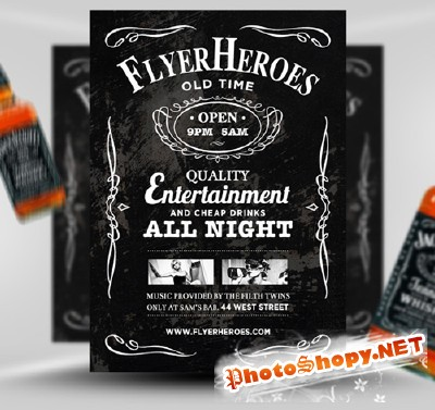 Whiskey Flyer Template PSD