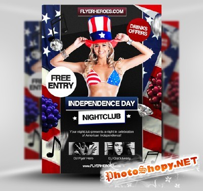 Independence Day Flyer Template PSD
