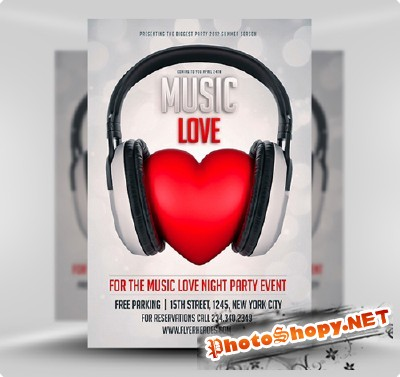 Music Love Flyer Template