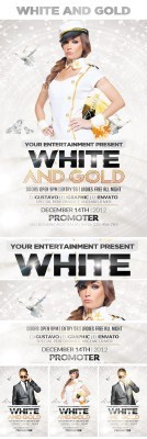 White and Gold Flyer Template PSD