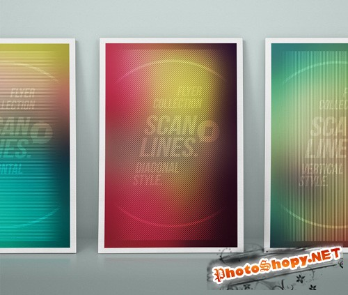 Scanline Led Flyers Collection