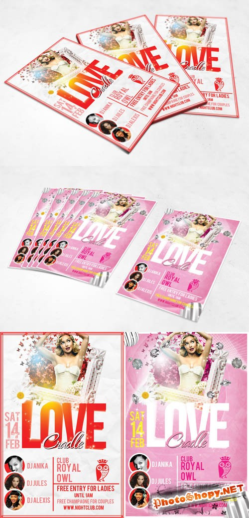 Valentines Day Flyers - Love Cradle