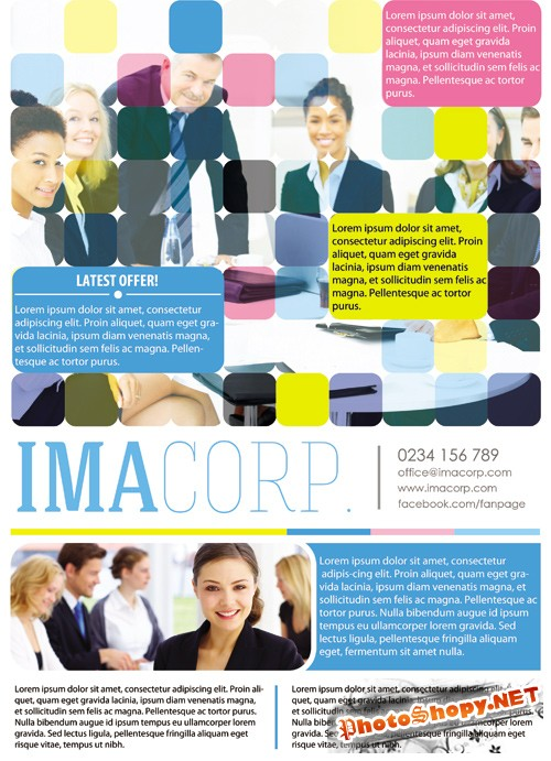 Colorful Corporate Flyer Template