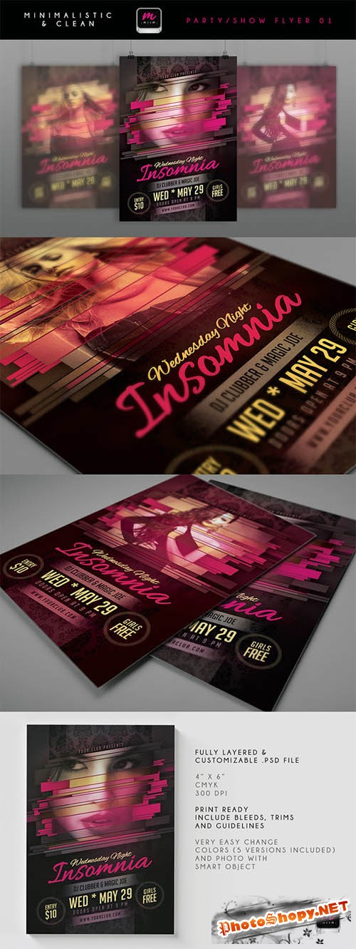 Wednesday Night Insomnia Flyer Template