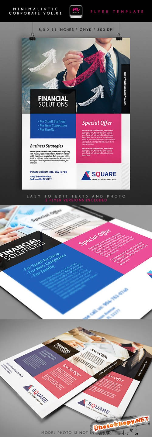 Minimalistic Corporate Flyer Template 1