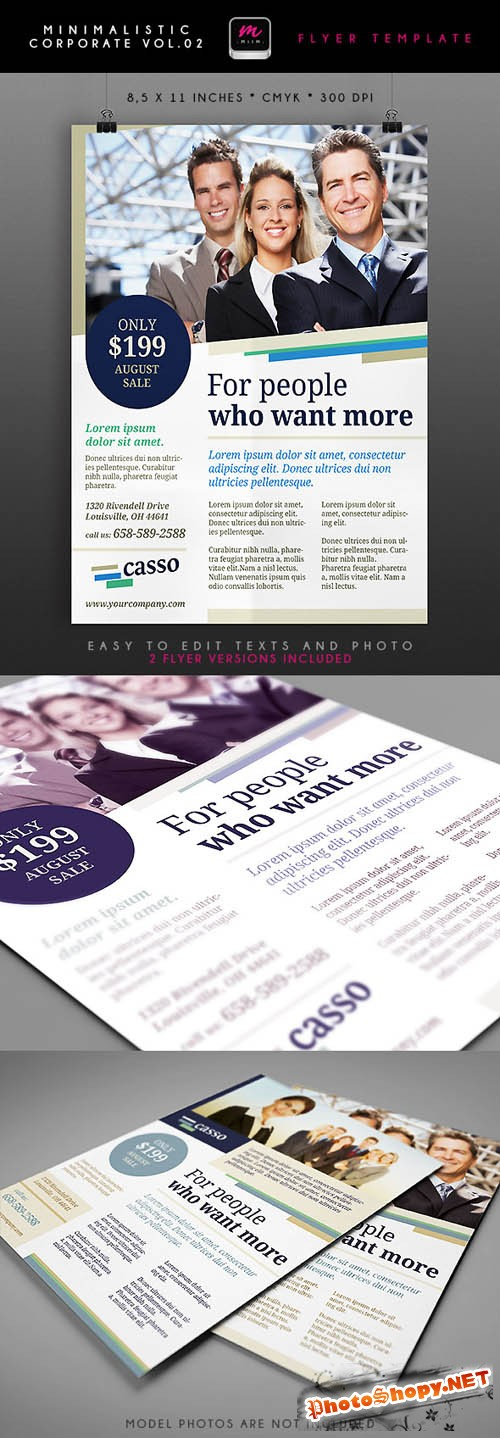 Minimalistic Corporate Flyer Template 2