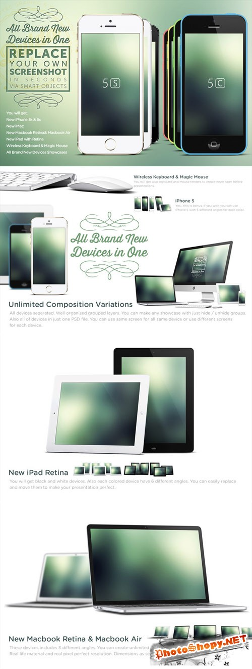 Apple Device Responsive Mock Up Templates