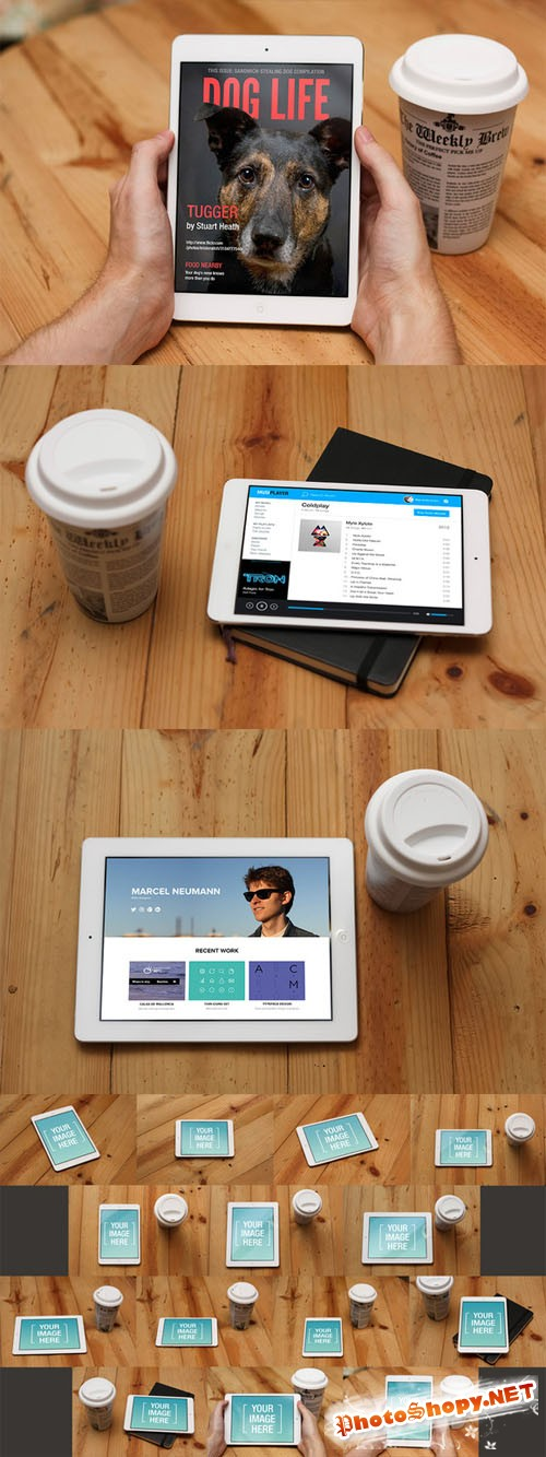 IPad and iPad Mini Mockup Templates