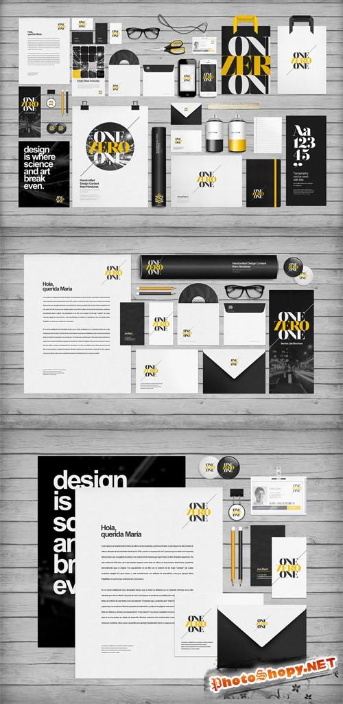 Flat Identity Branding Mockup Templates