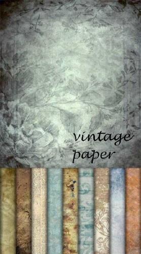 Набор из 10 винтажных бумажных текстур