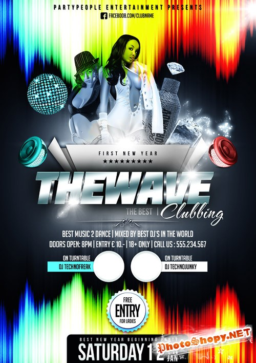 The Wave Clubbing Flyer Template