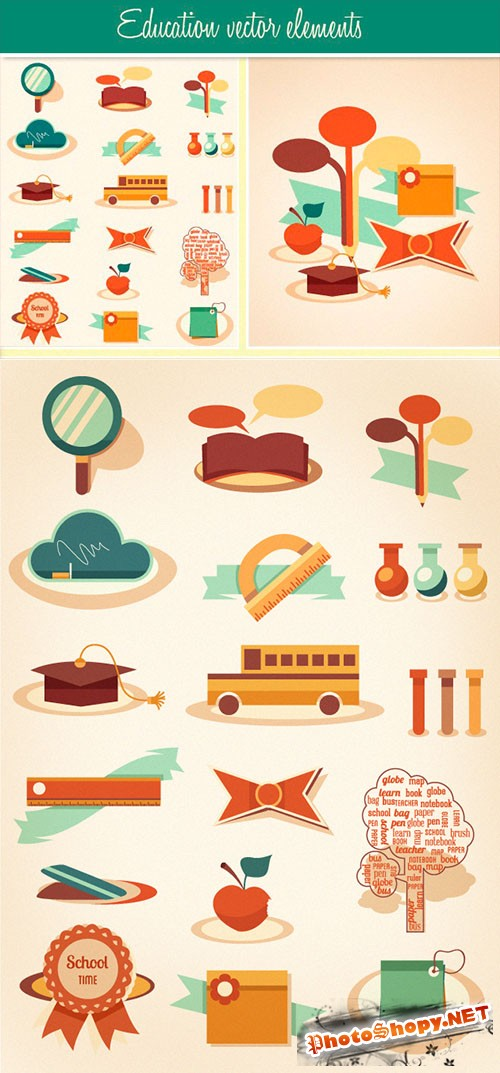 Designtnt - Education Vector Set 2
