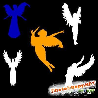 Фигуры ангелов для Photoshop