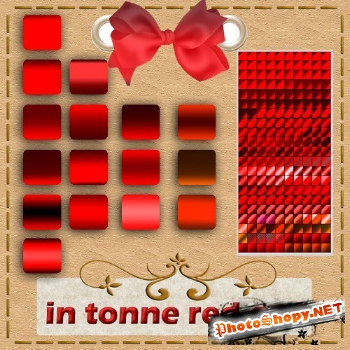 Colored Red Tone Photoshop Gradients