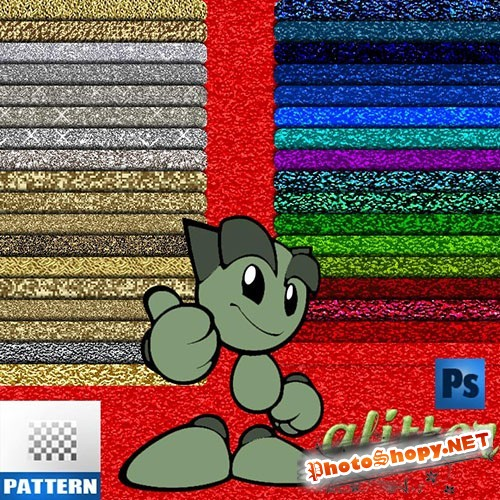 Colourful Glitter Photoshop Patterns
