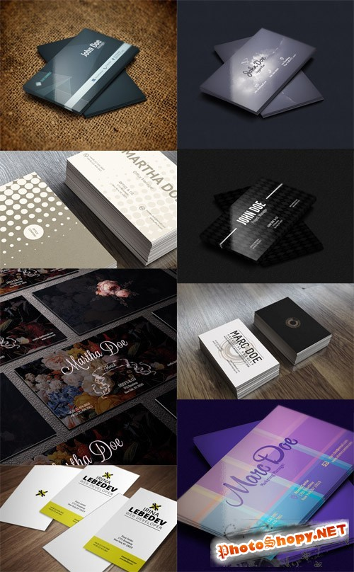 8 Business Cards Collection