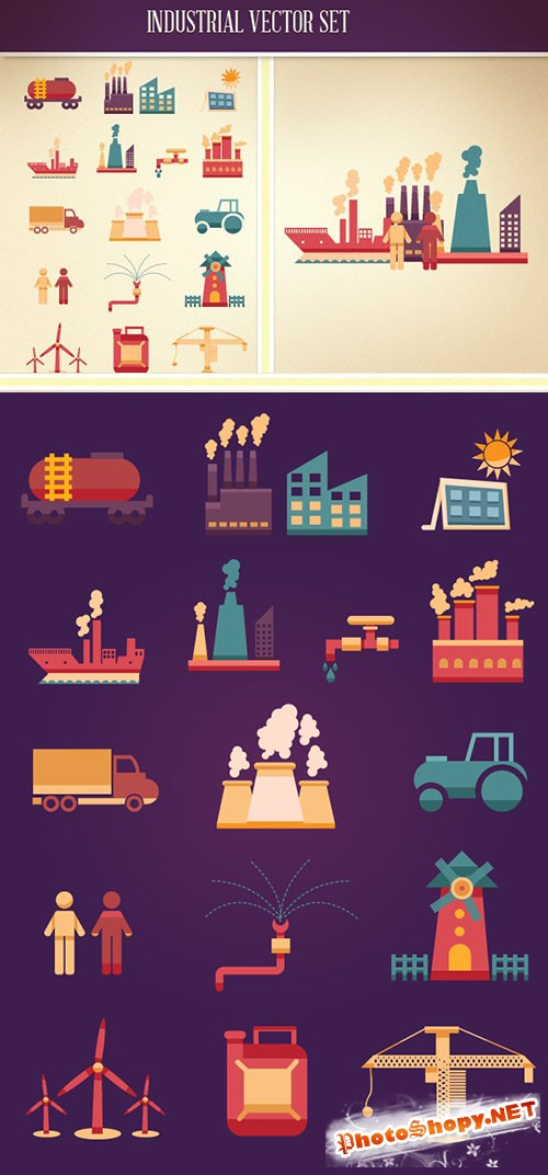 Designtnt - Industrial Vector Set 2