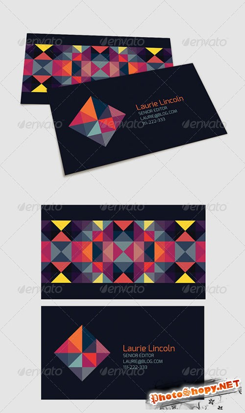 GraphicRiver - Trendy Geometric Business Card 4986044
