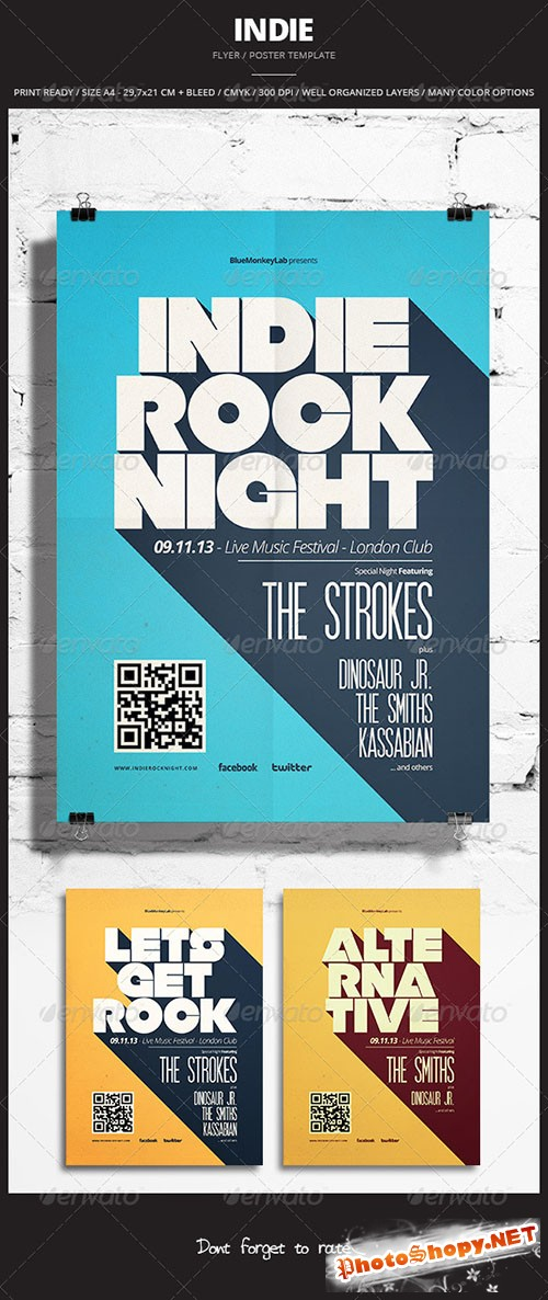 GraphicRiver - Indie Flyer / Poster 12 - 5854663