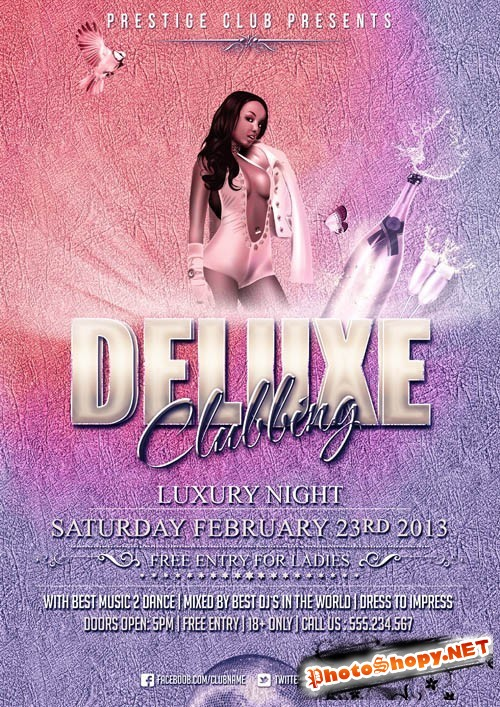 Deluxe Clubbing Flyer Template PSD