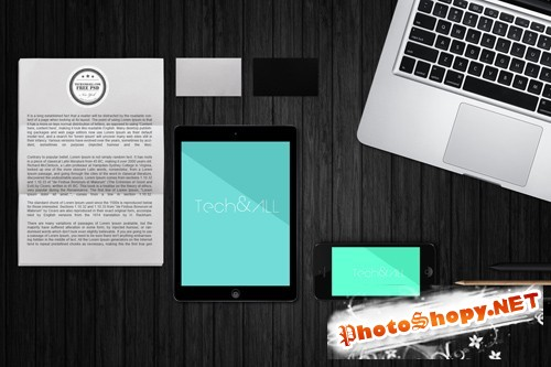 Aerial View Mockup Template PSD