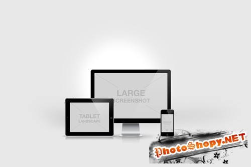Responsive Screen Mockup Templates PSD
