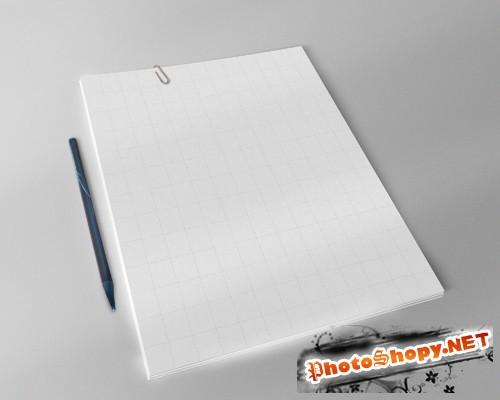 A4 Paper Mock up Template PSD