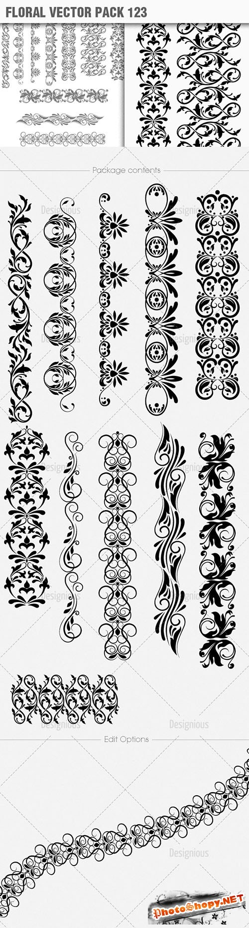 Floral Vector Pack 123