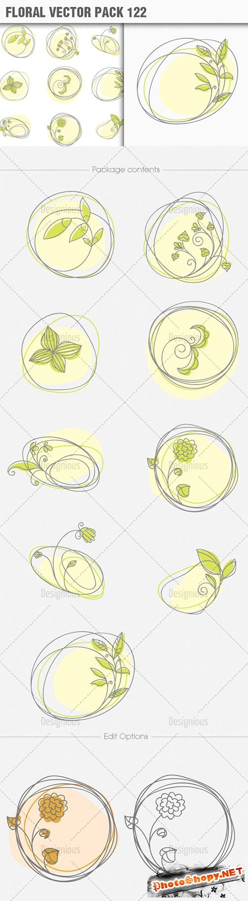 Floral Vector Pack 122