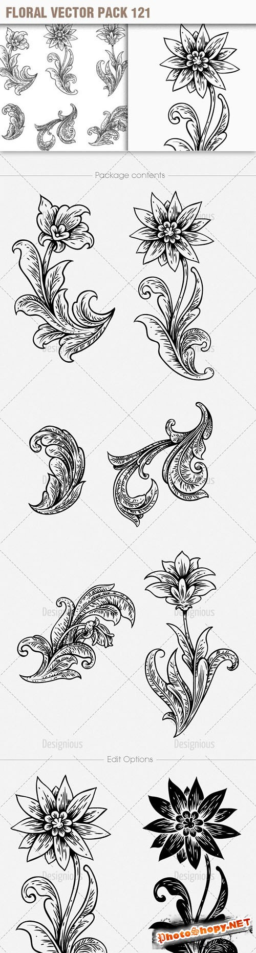 Floral Vector Pack 121