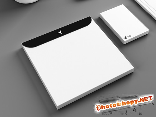 CD Envelope Mockup Template PSD