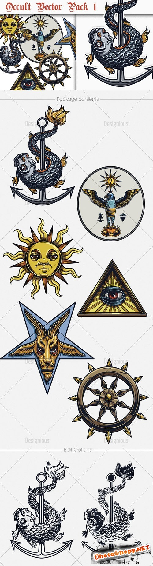 Occult Vector Illustrations Pack 1