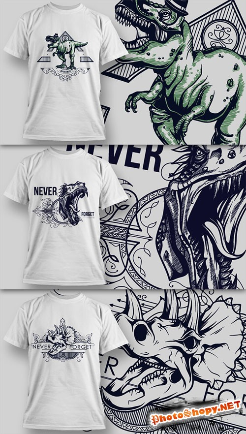 T-Shirt Design Vector Illustrations Pack 11